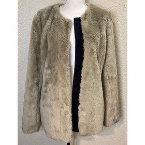 Gap Faux Fur Jacket Size Medium